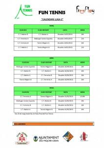 Calendari Març-Maig Fun Tennis_Lliga 2